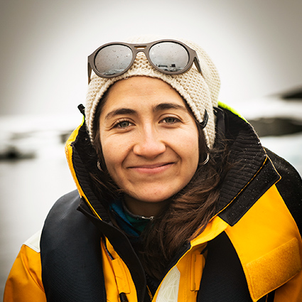 Carolina Carrasco, Host Leader, in Antarctica21's Hospitality Team