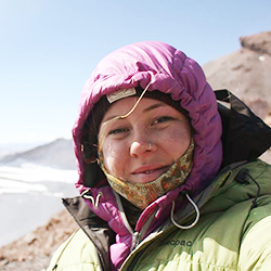 Jessica Bailey, Kayak Guide, in Antarctica21's Expedition Team