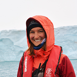 Karin Elena Wimberger, Cruise Manager and Expedition Guide, in Antarctica21's Expedition Team