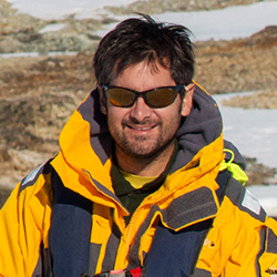 Rodrigo Moraga, Marine Biologist and Photographer, in Antarctica21's Expedition Team