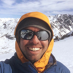 Santiago Urrutia, Mounatin Guide, in Antarctica21's Expedition Team